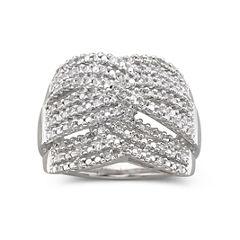 1/2 CT. T.W. Triple-Weave Diamond Band Sterling Silver