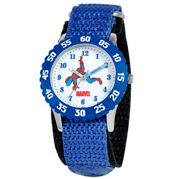 Marvel Time Teacher Marvel Boys Blue Strap Watch-Wma000043