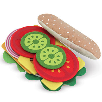 Melissa & Doug Felt Play Food Sandwich Set