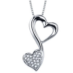 Love Grows™ 1/10 CT. T.W. Diamond Pendant Heart Necklace