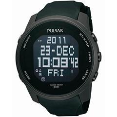 Pulsar® Mens Black Sports Digital Watch PQ2011