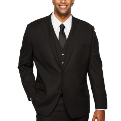 Shaquille O\u2019Neal XLG Black Stretch Suit Jacket , Big and Tall