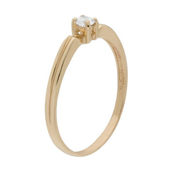 Itsy Bitsy Cubic Zirconia 14K Gold Over Silver Sterling Silver Stackable Ring
