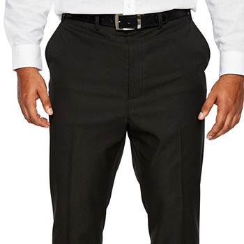 Shaquille O'Neal XLG Black Mens Stretch Classic Fit Suit Pants - Big and Tall