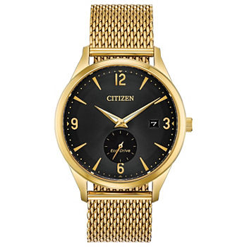 Drive from Citizen Mens Gold Tone Stainless Steel Bracelet Watch - Bv1112-56e