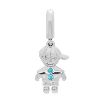 PS Personal Style Blue Cubic Zirconia Charm