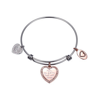 Footnotes Heart Bangle Bracelet