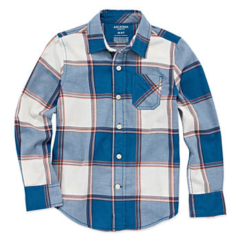 587034b6 Button-front Shirts Shirts + Tops Shop All Boys for Kids - JCPenney