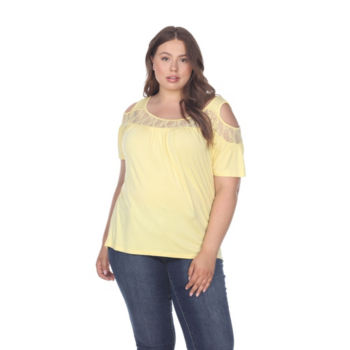 Plus Size Yellow Tops For Women Jcpenney