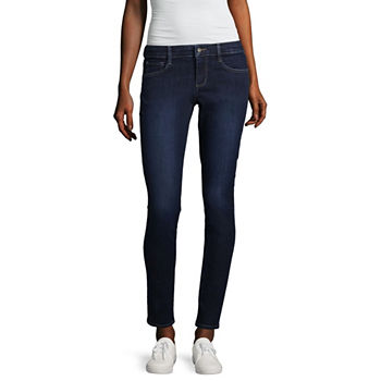Arizona Juniors Long Size Jeans For Women