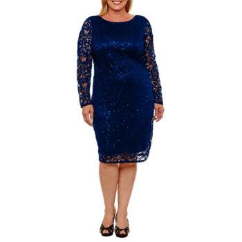 Plus Size Sheath Dresses The Wedding Shop For Women Jcpenney