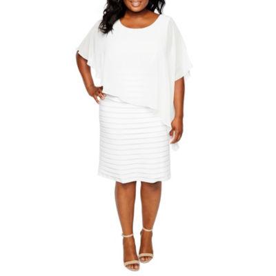 Plus Size White Dresses Casual