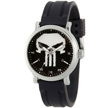 Marvel Marvel Mens Black Strap Watch-Wma000263
