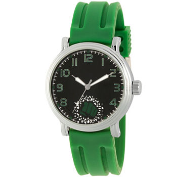 Marvel Avengers Mens Green Strap Watch-Wma000270
