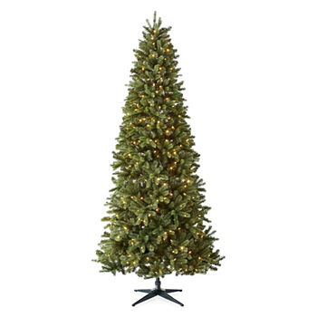 9 foot tuscany pre lit multi function lights christmas tree