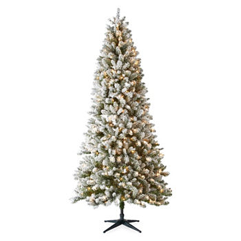 9 foot tacoma flocked christmas tree