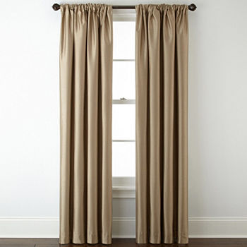 JCPenney Home Energy Saving Blackout Rod-Pocket Single Curtain Panel