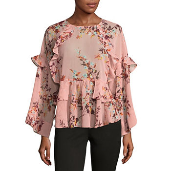 Ana blouses tops for women jcpenney only at jcp priya floral rose mightylinksfo