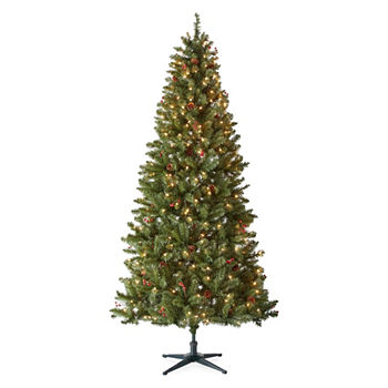 7 12 foot woodbury balsam pre decorated christmas tree - Pre Decorated Christmas Trees For Sale