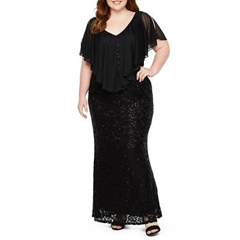 Plus Size Black Dresses | Sleeveless, 3/4 Sleeve & More | JCPenney