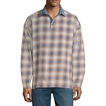 2800ffd03 Mens Long Sleeve Flannel Shirt Big and Tall. Add To Cart. Only at JCP. Blue  Brown Plaid