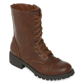 5e28ba68865a Combat Boots Brown Juniors  Boots for Shoes - JCPenney