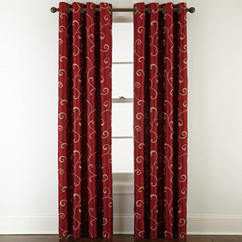Pattern Red Curtains Drapes For Window JCPenney New Pattern Curtains