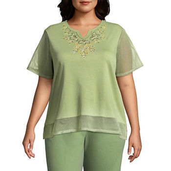 27d73cedfb3a0 Alfred Dunner Plus Size Tops for Women - JCPenney