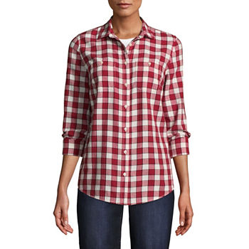 fce8a7500c8e83 CLEARANCE Button-front Shirts Tops for Women - JCPenney