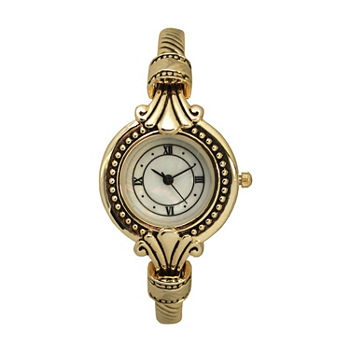 Olivia Pratt Womens Gold Tone Strap Watch-A915789gold