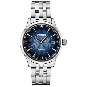 58e20f393c0 Seiko Mens Silver Tone Strap Watch-Srpb41