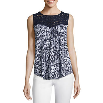 4caf30854f2c8 Misses Size Sleeveless Tops for Women - JCPenney