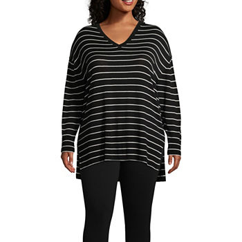 f6848e663fb7e Plus Size Stripe Tops for Women - JCPenney