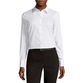db4c22984ed5 Button-front Shirts Tops for Women - JCPenney
