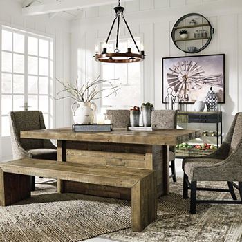 Signature Design by Ashley Tupelo Rectangular Wood-Top Dining Table