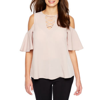 Misses Size Pink Tops For Juniors Jcpenney
