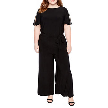 69754ced4956 Plus Size Black Jumpsuits   Rompers for Women - JCPenney