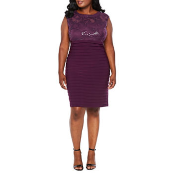 Plus Size Pleated Dresses For Women Jcpenney