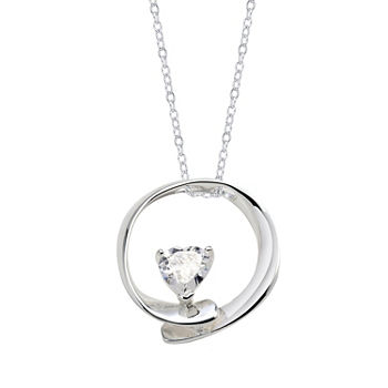 Footnotes Grandmother Clear Round Pendant Necklace