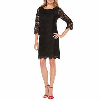 Black Lace Dresses Jcpenney