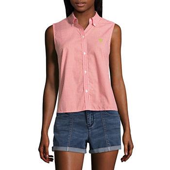74eca7f51de11 Sleeveless Button-front Shirts Tops for Women - JCPenney