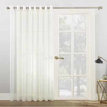 No 918 Emily Patio Light Filtering Grommet Top Patio Door Curtain