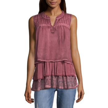 Blouses Pink Tops For Women Jcpenney