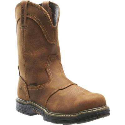 Wolverine Mens Anthem Waterproof Slip Resistant Work Boots