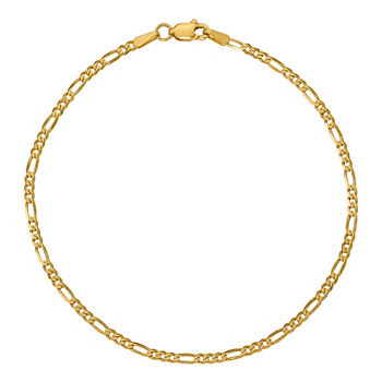 14K Gold 7 Inch Solid Figaro Chain Bracelet