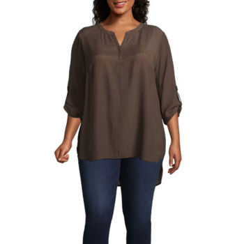 Plus Size Brown Tops For Women Jcpenney