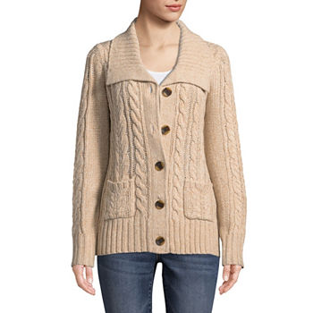 03419f662f50 St. John s Bay Womens Long Sleeve Open Front Cardigan · (1). Add To Cart.  Only at JCP