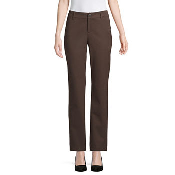 a08f076e2fa St. John s Bay Womens Straight Fit Straight Trouser