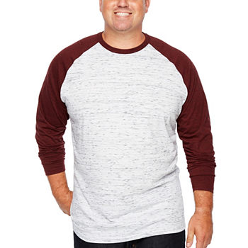 f3561ffd The Foundry Big & Tall Supply Co. Mens Crew Neck Long Sleeve T-Shirt-Big  and Tall