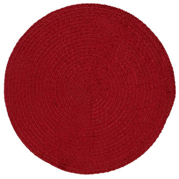 Solid Kitchen Rugs Red
